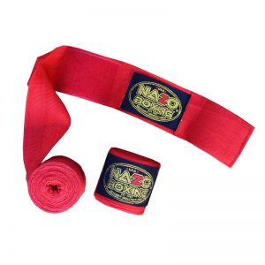 """Elastic Boxing Hand Wraps180"""" Red"""