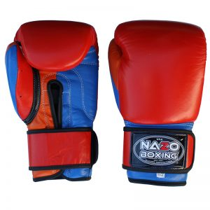 Leather Professional Training & Sparring Boxing Gloves Armenian Colors
