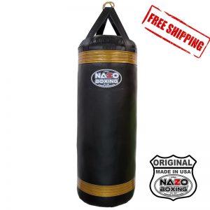 4 FT XL 135 LB Punching Heavy Bag Black & Gold