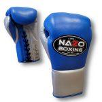 Blue Silver 10oz fight gloves
