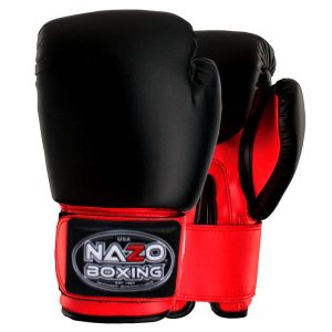 NAZO BOXING BLACK-RED DELUXE BOXING GLOVES