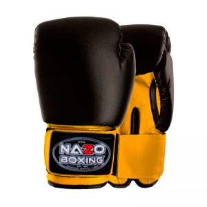 NAZO BOXING BLACK-YELLOW DELUXE BOXING GLOVES