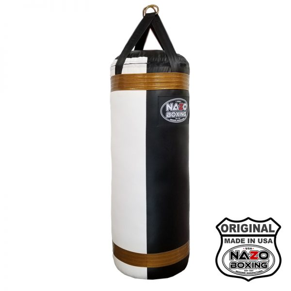 Black White Gold 120 Pound Heavy Punching bag Made in USA