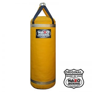 4 FT 135 LB Boxing Punching Heavy Bag Black & Yellow & Gold