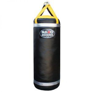 4 FT 135 LB Boxing Punching Heavy Bag Black & Yellow & Silver