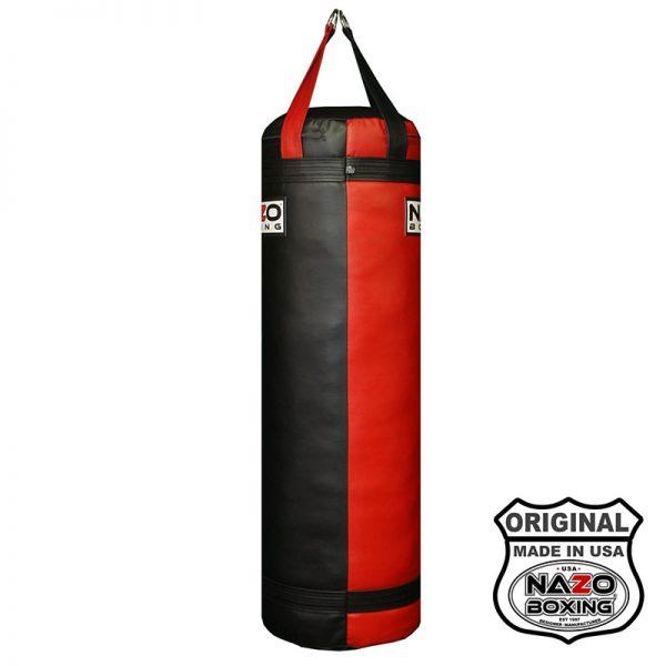 4ft nazo boxing heavy punching bag red black