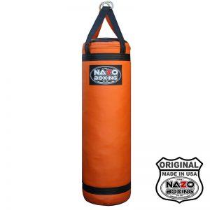 4 FT Black Orange Punching Bag Made In USA