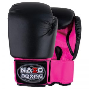 NAZO BOXING BLACK-PINK DELUXE BOXING GLOVES