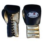 boxing gloves black gold