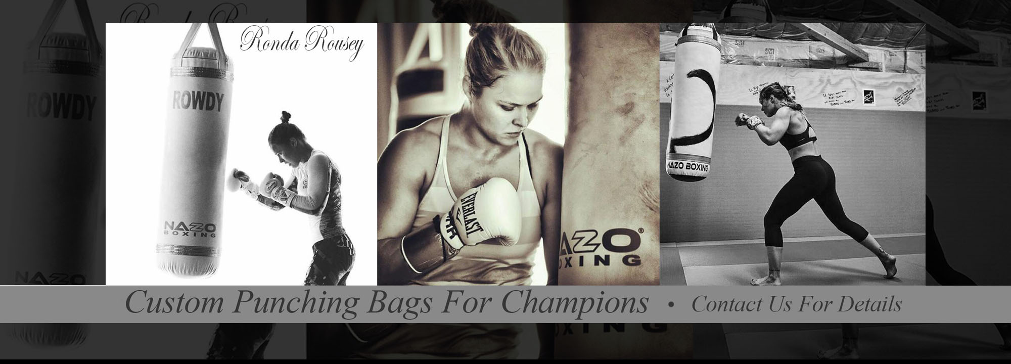 Ronda Rousey Punching Heavy Bag Made in USA
