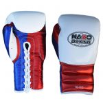 boxing gloves metalic red blue