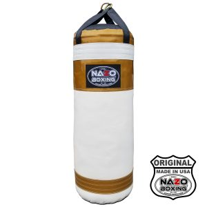 AJ 4 FT XL Metallic Gold White Punching Bag Made in USA