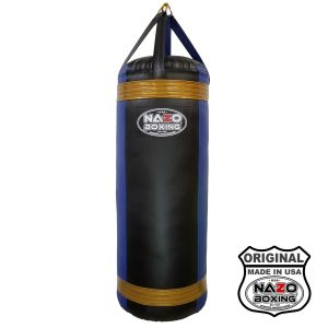 4 FT XL Black Blue Punching Bag Made in USA