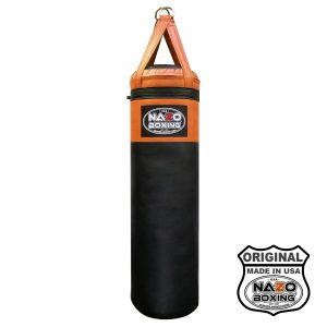 4 FT Orange Black Punching Bag Made In USA