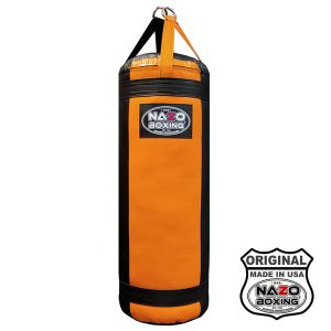 4 FT XL 135 Pound Black Orange Punching Bag Made in USA