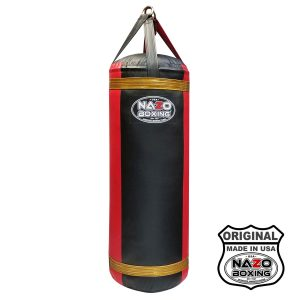 4 FT XL Black Red Punching Bag Made in USA