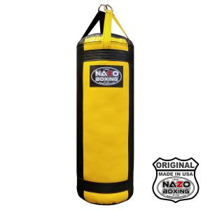 4 FT XL Black Yellow Punching Bag Made in USA