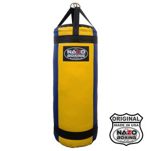 4 FT XL 135 Pound Blue Yellow Punching Bag Made in USA