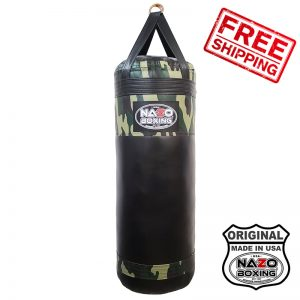 4 FT XL 135 POUND CAMO FILLED PUNCHING BAG