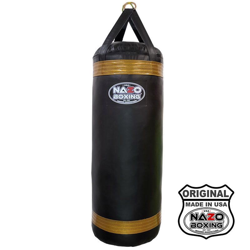 4 Ft XL Black Gold punching bag made in USA