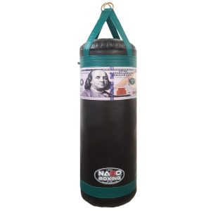 4 FT XL 135 LB Heavy Punching Bag Money Style