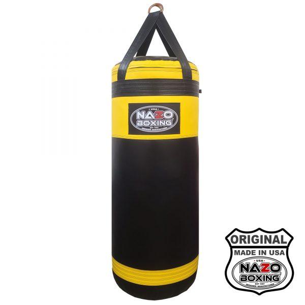 Black Yellow punching bag made in USA